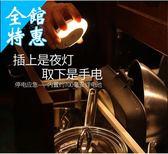 人體感應燈 家用智能led小夜燈泡家用插電人體自動感應衛生間插座【最後一天快速出貨八折】