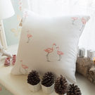 限量方形抱枕 小紅鶴  磨毛材質抱枕   枕芯超飽滿 台灣製