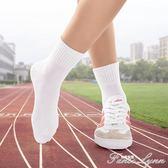 兒童襪子純棉學生白 1-12歲女童男童白色運動無骨春秋寶寶中筒襪 范思蓮恩