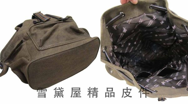 ~雪黛屋~SANDIA-POLO後背包中小容量上學上班休閒個性款防水帆布+皮革材質可A4資夾DN1400-12534