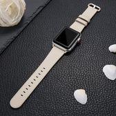 錶帶 索柯 錶帶適用于真皮錶帶男女通用apple watch1/2/3代手錶帶38/42mm潮蘋果