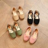 女童鞋韓版女童半涼鞋女寶寶公主鞋兒童皮鞋小女孩鞋子 安妮塔小舖