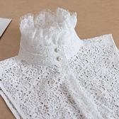 假領子襯衫穿搭領片 蕾絲立領針織衫大學T外套內搭白色[E1613]滿額送愛康衛生棉預購.朵曼堤洋行