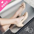 韓系時尚蝴蝶結造型高跟懶人包鞋/3色/3...