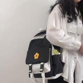 書包女ins風泫雅小花雙肩包校園初中生少女日系書包女韓版高中潮  免運快速出貨