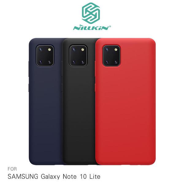 ~愛思摩比~NILLKIN SAMSUNG Galaxy Note 10 Lite 感系列液態矽膠殼 背殼 鏡頭增高