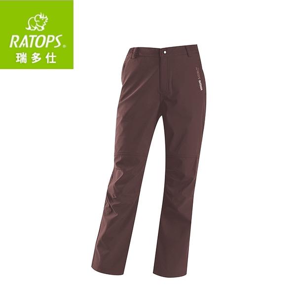 【瑞多仕 RATOPS 女 SOftshell防水透氣長褲《暗咖啡》】RAS-740/保暖長褲/休閒褲/旅遊