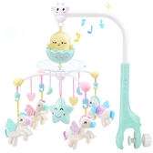 寶寶床頭旋轉搖鈴嬰兒床鈴音樂風鈴0-3-6個月玩具掛件1歲女孩男孩 雙十一87折