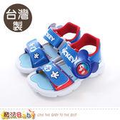 男童鞋 台灣製迪士尼米奇正版閃燈涼鞋 魔法Baby