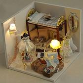 【WT16122907】 手製DIY小屋 手工拼裝房屋模型建築 -甜夢巴黎