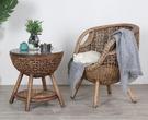 籐椅三件套 籐椅三五件套陽台室戶外桌椅休閒簡約小茶几組合庭院露台真藤編椅 夢藝家