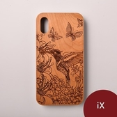 Woodu 木製手機殼 蜂鳥信念 iPhone X適用