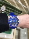 ROLEX 勞力士RUBBER B®潛航者 Submariner 錶帶 - 唐扣系列  M106DC 太平洋藍膠錶帶