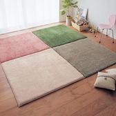 臥室地毯拼接茶幾家用拼圖地墊客廳滿鋪床邊腳墊榻榻米地板墊定制