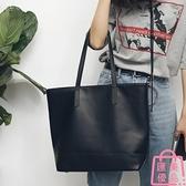 側背包皮包簡約單肩大包休閑包購物袋潮流大包包【匯美優品】