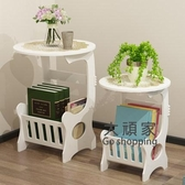 茶几 歐式現代簡約臥室迷你床頭小圓桌子客廳圓形休閒小小戶型T