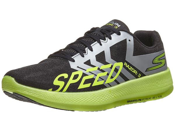 SKECHERS GO RUN RAZOR 3 男鞋 慢跑 避震 HYPER BURST™ 輕量 透氣 黑 螢光黃【運動世界】 55220BKLM