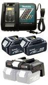 [家事達]  MAKITA- BL1840*2(4A鋰電池) +DC18RC充電器 +BCV03 36V轉換器 電力包 特價