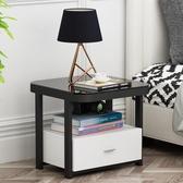 床頭櫃 床頭櫃簡約現代床邊收納櫃北歐簡易玻璃床邊櫃網紅創意邊櫃 尾牙交換禮物