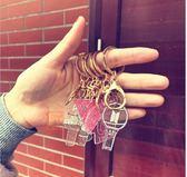 EXO愛麗棒/TWICE/BTS/Seventeen 透明亮粉壓克力鎖圈 鑰匙圈 鑰匙扣 E840【玩之內】韓國