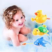 寶寶鯨魚小鴨海龜洗澡游水發條玩具 兒童玩具 拉線划水