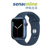 Apple Watch S7 LTE 45mm 藍色鋁金屬-深邃藍色運動型錶帶[預約賣場]