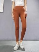 瑜伽褲健身褲滿200-100瑜伽長褲女彈力緊身跑步運動褲高腰翹臀收腹 蘿莉小腳丫
