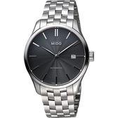 MIDO 美度 Belluna II Gent 經典機械手錶-黑x銀/40mm M0244071106100