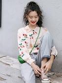 花襯衫 復古港味雪紡花襯衫女春款2021新款寬鬆設計感小眾洋氣長袖上衣潮 嬡孕哺