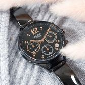 ALBA / VD53-X335SD.AT3F19X1 / 甜美知性 藍寶石水晶玻璃 計時 日期 不鏽鋼手錶 鍍黑 36mm