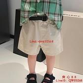 童裝褲子短褲薄款休閑褲簡約百搭工裝褲【齊心88】