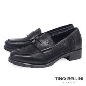 Tino Bellini義大利進口切割皮低跟樂福鞋 _ 黑 B69016  歐洲進口款