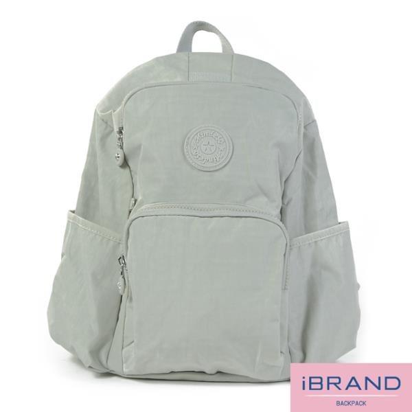 【南紡購物中心】【i Brand】輕盈防潑水防盜尼龍後背包-米白 MDS-8526-米白