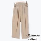 「Summer」棉麻鬆緊腰口袋設計直筒寬褲 (提醒 SM2僅單一尺寸) - Sm2