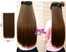 ★依芝鎂★H270髮片自然無痕一片式長直髮接髮片60cm,售價200元