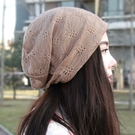 19年新款帽子鉤花頭巾帽堆堆帽休閒帽孕婦帽包套帽嘻哈帽薄款帽子