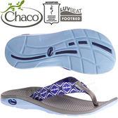 Chaco ETW01_HD51藍色漂浮 女戶外運動拖鞋/夾腳拖