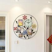 裝飾相框現代簡約時尚大掛錶時鐘創意鐘錶客廳石英鐘靜音掛鐘xw 全館免運