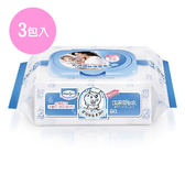 Baan貝恩 嬰兒保養柔濕巾EDI-無香料 80片*3包  【德芳保健藥妝】