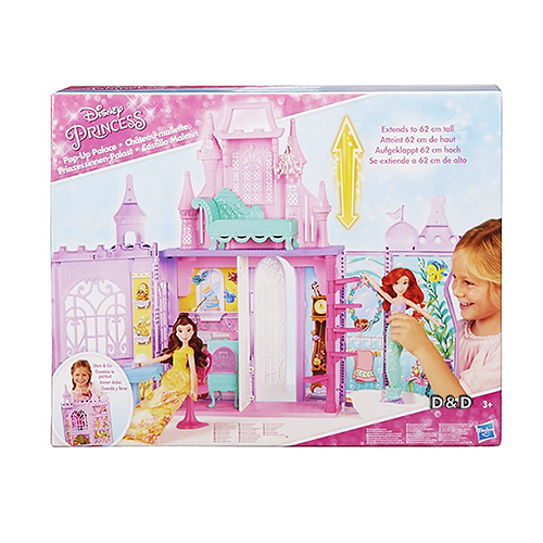 《 Disney 迪士尼 》迪士尼公主攜帶式大城堡  ╭★ JOYBUS玩具百貨