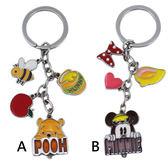 【卡漫城】 迪士尼 鑰匙圈 2款選1 ㊣版 米妮 維尼熊 小熊 維尼 Minnie Winnie 吊飾 掛飾 Pooh