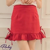 褲裙 魚尾綁帶後鬆緊褲裙-Ruby s 露比午茶