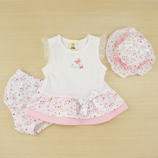 【愛的世界】小蝴蝶無袖雪紡紗3件組套裝禮盒/6個月/2歲-台灣製-  ---禮盒推薦