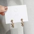 【NiNi Me】韓系耳環 現貨 甜美可愛水鑽小熊925銀針耳環 耳環 N0577