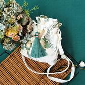 新款森擊小包古風漢服包中國風仙女刺繡斜背包側背包配古裝布荷包 韓國時尚週