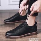 夏季英倫男士休閒小皮鞋男韓版潮流青少年透氣馬丁靴商務正裝鞋子【小艾新品】