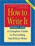 二手書博民逛書店《How to Write It: A Complete Gui