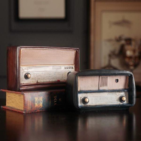 zakka雜貨創意復古收音機擺件 家居裝飾品 酒吧咖啡館藝術品擺件