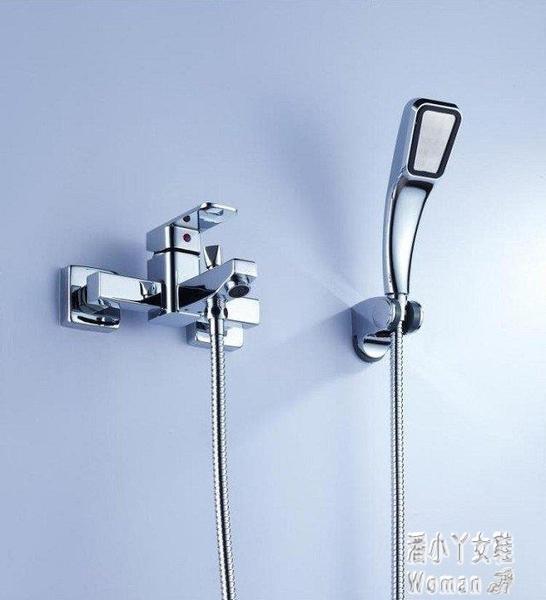 全銅花灑冷熱恒溫簡裝淋浴套裝龍頭浴缸增壓方形圓形花灑 JY8784【潘小丫女鞋】