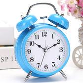 簡約時尚學生床頭靜音小鬧鐘兒童可愛創意臥室鬧錶超大聲鬧鈴台鐘    初語生活